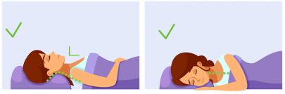 نحوه صحیح قرار گرفتن گردن بر روی بالش در زمان خواب